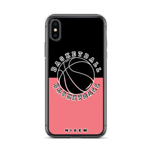 Basketball iPhone Case (Black & Pink 2)