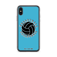 Load image into Gallery viewer, Blue volleyball iPhone X/XS phone cases