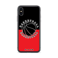 Load image into Gallery viewer, Basketball iPhone Case (Black & Red 1)