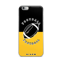 Load image into Gallery viewer, Football iPhone Case (Black & Yellow)