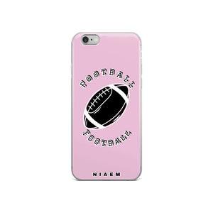 Football iPhone Case (Pink 4)