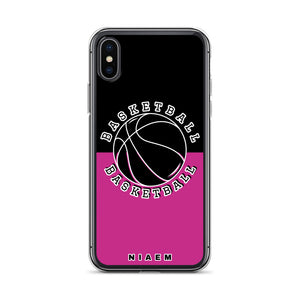 Basketball iPhone Case (Black & Pink)