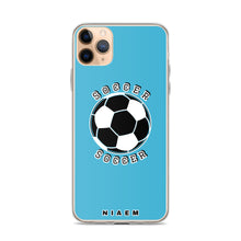 Load image into Gallery viewer, Soccer iPhone Case (Blue 7)
