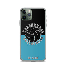 Load image into Gallery viewer, Volleyball iPhone Case (Black & Blue)