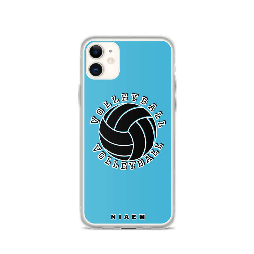 Blue volleyball iPhone 11 phone cases