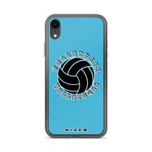 Load image into Gallery viewer, Blue volleyball iPhone XR phone cases