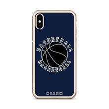 Load image into Gallery viewer, Basketball iPhone Case (Navy)