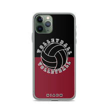 Load image into Gallery viewer, Volleyball iPhone Case (Black & Red 2)