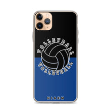 Load image into Gallery viewer, Volleyball iPhone Case (Black & Blue 2)
