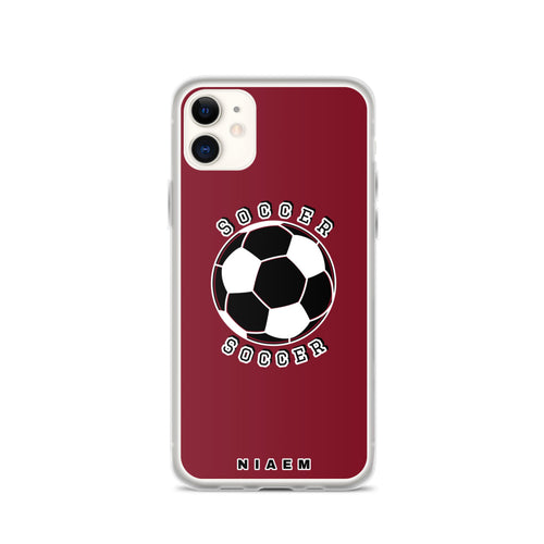 Soccer iPhone Case (Red 2)