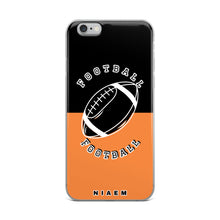Load image into Gallery viewer, Football iPhone Case (Black & Orange 1)
