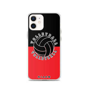 Volleyball iPhone Case (Black & Red 1)