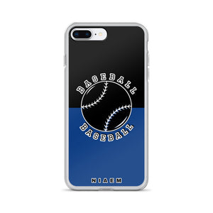 Baseball iPhone Case (Black & Blue 2)