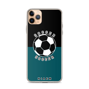 Soccer iPhone Case (Black & Blue 4)