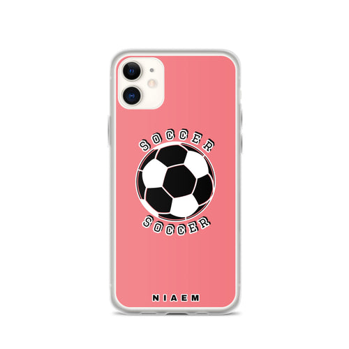 Soccer iPhone Case (Pink 2)