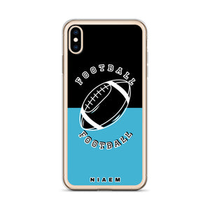 Football iPhone Case (Black & Blue 7)