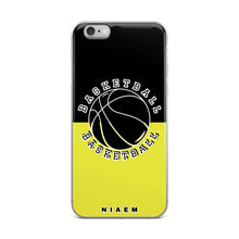 Load image into Gallery viewer, Basketball iPhone Case (Black & Yellow 3)