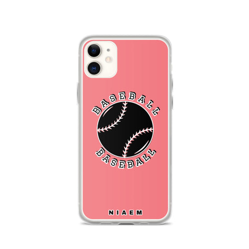 Baseball iPhone Case (Pink 2)