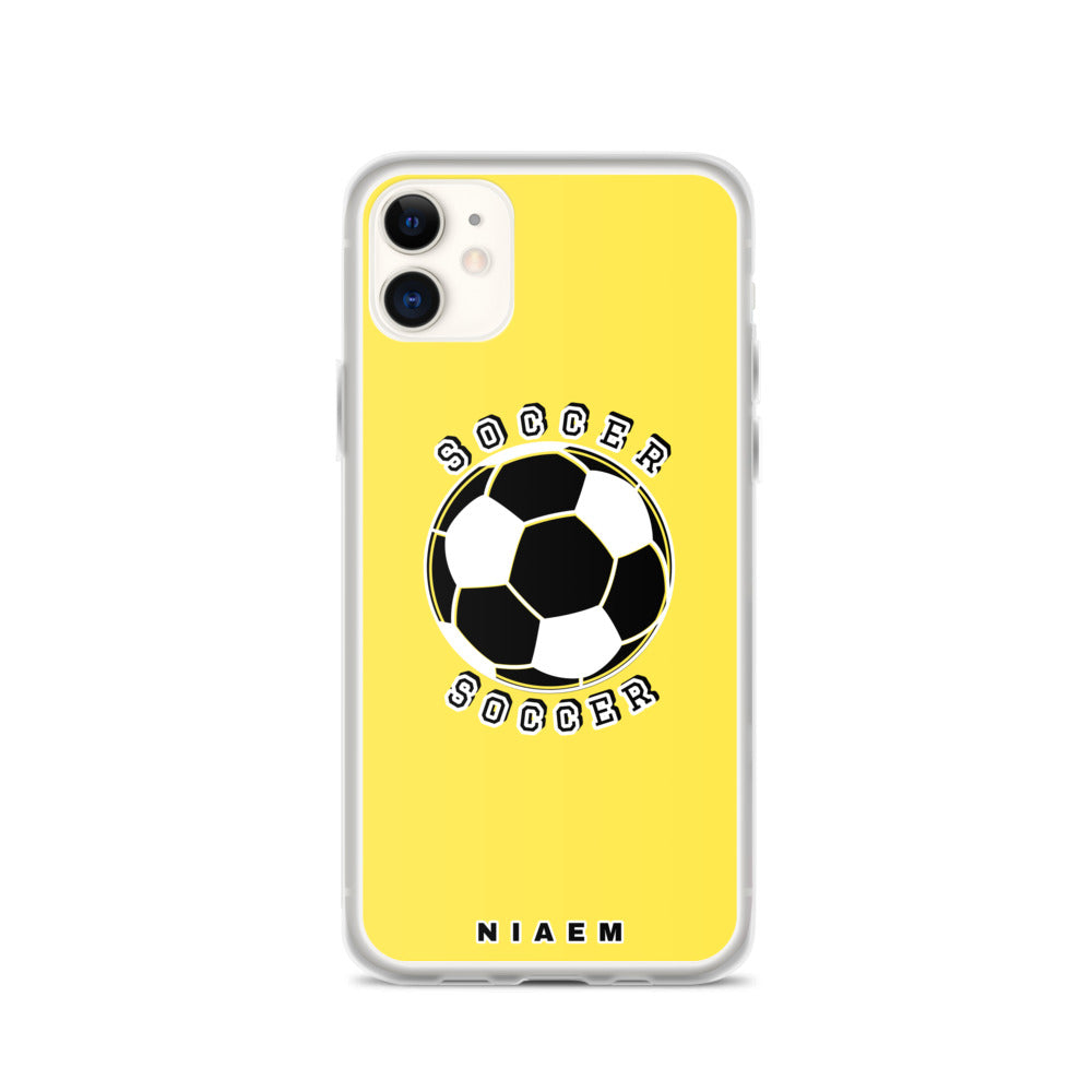 Soccer iPhone Case (Yellow)
