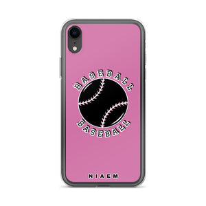 Baseball iPhone Case (Pink 1)