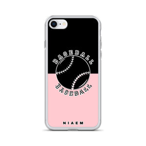 Baseball iPhone Case (Black & Pink 3)