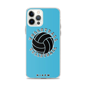 Blue volleyball iPhone 12 Pro Max phone cases