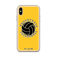 Load image into Gallery viewer, Volleyball iPhone Case (Yellow)