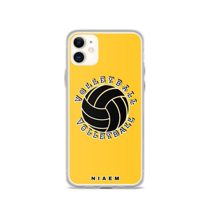 Volleyball iPhone Case (Yellow)