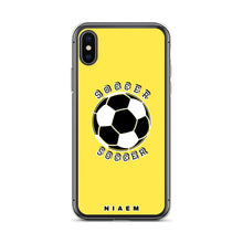 Load image into Gallery viewer, Soccer iPhone Case (Yellow 1)