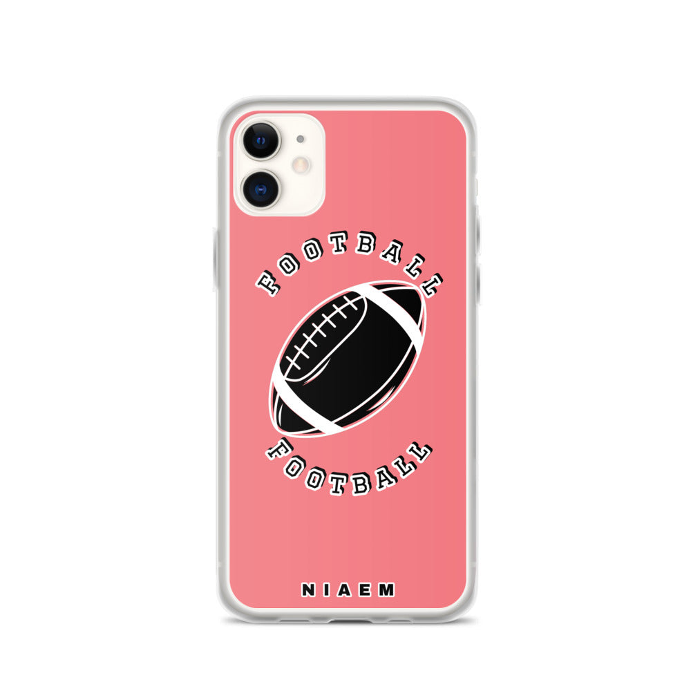 American Football iPhone Case (Pink 2)