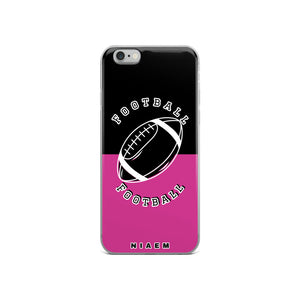 Football iPhone Case (Black & Pink 5)