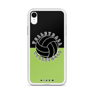 Volleyball iPhone Case (Black & Green 3)