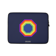 Load image into Gallery viewer, Navy Blue Octagon MacBook Laptop Sleeve
