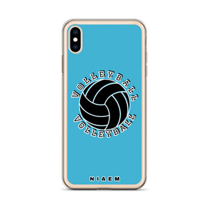 Blue volleyball iPhone XS Max phone cases