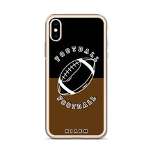 Load image into Gallery viewer, Football iPhone Case (Black & Brown)