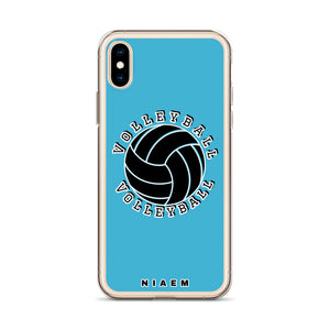 Blue volleyball iPhone X/XS phone cases