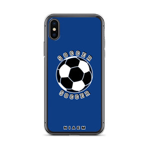 Soccer iPhone Case (Blue 2)