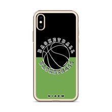Load image into Gallery viewer, Basketball iPhone Case (Black & Green)