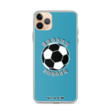 Load image into Gallery viewer, Soccer iPhone Case (Blue)