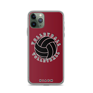 Volleyball iPhone Case (Red 2)