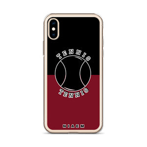 Tennis iPhone Case (Black & Red 2)