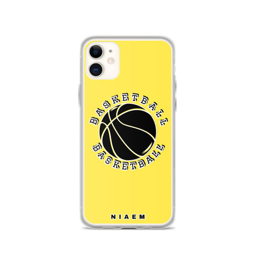 Basketball iPhone Case (Yellow 1)