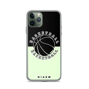 Basketball iPhone Case (Black & Green 2)