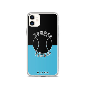 Tennis iPhone Case (Black & Blue 7)