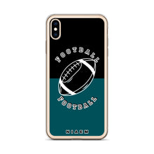 Load image into Gallery viewer, Football iPhone Case (Black & Blue 4)