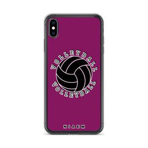 Volleyball iPhone Case (Pink 6)