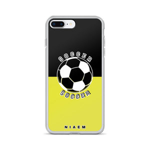 Soccer iPhone Case (Black & Yellow 3)