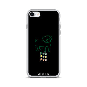 Green Pug iPhone Case