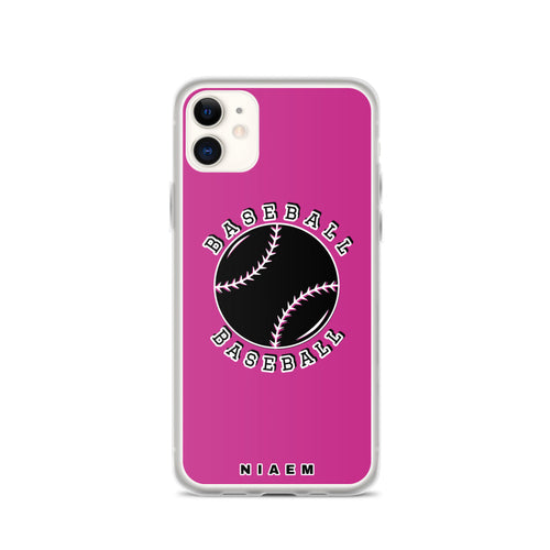 Baseball iPhone Case (Pink)