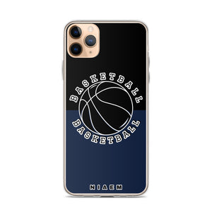 Basketball iPhone Case (Black & Navy)